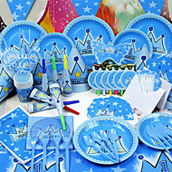 """Little Prince"" Birthday Party Supplies - Set of 84 Pieces"