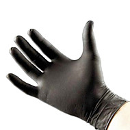 Dragonhawk® Powder-Free Black Nitrile Exam Latex-Free Tattoo Gloves Medium
