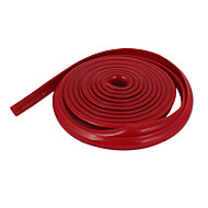Plastic Slim Car Decorative Moulding Trim Strip 2M 6.6Ft Length