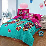 Owl Duvet Cover+Pillowcases 3pcs bedding set