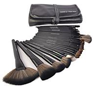 Make-up For You® 32pcs Pony Hair Makeup Brushes set Professional/Limit bacteria Black Foundation/Powde/Blush/Shadow/brow/lash/lip brush