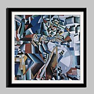 E-HOME® Framed Canvas Art, Mechanical Abstract Pattern Framed Canvas Print One Pcs