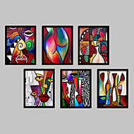Fantasy Framed Canvas / Framed Set Wall Art,PVC Black No Mat With Frame Wall Art