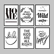 E-HOME® Framed Canvas Art, Simple Patterns And Letters in English Framed Canvas Print One Pcs
