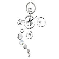"40"" Creative Mirror Fashion Wall Clock"