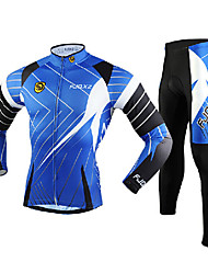 FJQXZ Moto/Ciclismo Meia-calça / Camisa + Calças / Conjuntos de Roupas/Ternos Homens Manga CompridaRespirável / Resistente Raios
