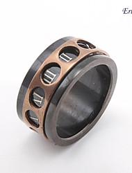 Eruner®Men's Black Double Circle Band Ring