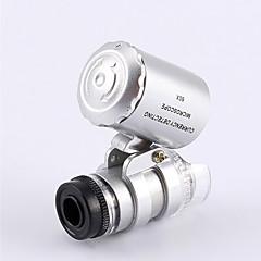 Smallest Jeweler's Microscope 60X 2 LED Mini Pocket Microscope Magnifier Jeweler Loupe