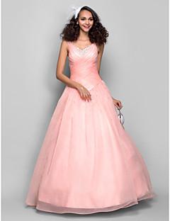 d905c589206 TS Couture Χορός Αποφοίτησης Επίσημο Βραδινό Φόρεμα - Ανοικτή Πλάτη Βραδινή  τουαλέτα Ιμάντες Μακρύ Οργάντζα με