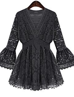 ef4882765e2d Γυναικεία Φόρεμα Δαντέλα Λαιμόκοψη V Πάνω από το Γόνατο Μακρυμάνικο Άλλα