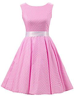 5f7e6454eaab Γυναικεία Φόρεμα Πλισέ Στρογγυλή Λαιμόκοψη Ως το Γόνατο Αμάνικο Βαμβάκι