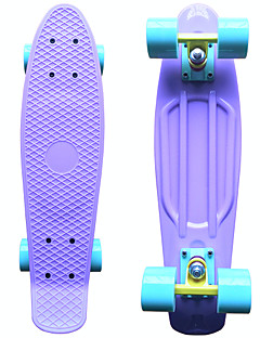 Classic Plastic Skateboard (22 Inch) Cruiser Board Pastel Purple with Pastel Blue Wheels