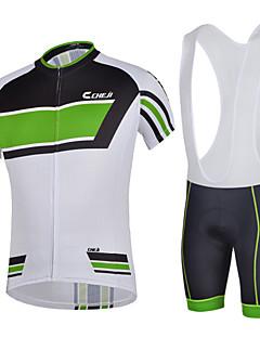 c5e89ca29d50 CHEJI® Αθλητική φανέλα και σορτς ποδηλασίας Ανδρικά Κοντομάνικο  ΠοδήλατοΑναπνέει   Γρήγορο Στέγνωμα   Υπεριώδης Αντίσταση